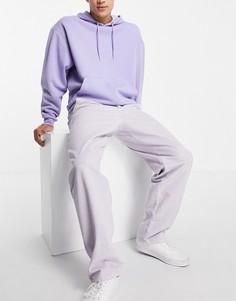Свободные вельветовые брюки сиреневого цвета ASOS DESIGN-Фиолетовый цвет