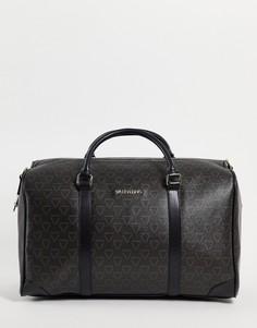 Черная спортивная сумка с фирменной отделкой Valentino Bags Liuto-Черный цвет
