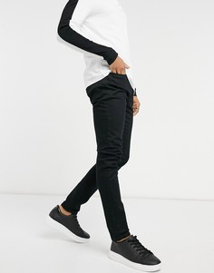 Черные эластичные джинсы зауженного кроя из смесового органического хлопка Topman-Черный