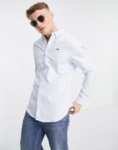 Голубая оксфордская рубашка с длинными рукавами Threadbare-Голубой