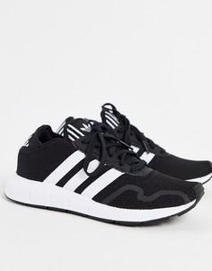 Черно-белые кроссовки adidas Originals Swift Run X-Черный цвет