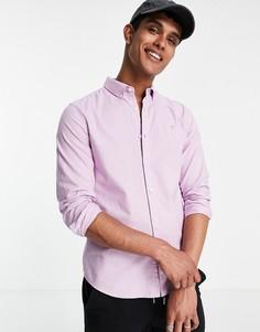 Фиолетовая рубашка с длинными рукавами из органического хлопка Farah Brewer-Фиолетовый цвет