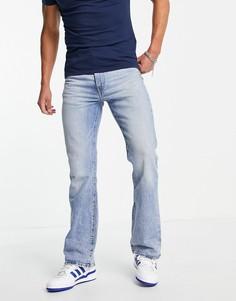 Голубые винтажно-выбеленные джинсы с легким клешем Levis-Голубой Levis®