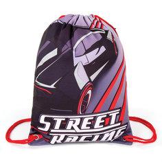 Мешок для обуви Brauberg Street racing Premium, подкладка, светоотражатели, 43*33 см
