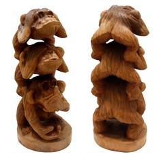 Сувенир из дерева Три обезьяны 757806 Восточная лавка