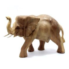 Сувенир из дерева Слон - Удача и процветание в дом 30см-45см 681429 Восточная лавка