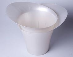 Акиби Горшок для цветов Модерн 2,5 л, белый перламутр
