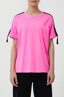 Футболка женская Finn Flare S21-32049 розовая L