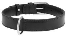 Ошейник для собак Collar WAUDOG GLAMOUR повседневный, кожа, черный, обхват шеи 38-49 см