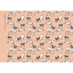 Альбом (30л 110 г/м склейка) Веселые мопсы, АЛ301655 Unnika Land