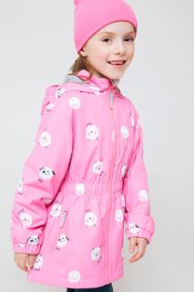Легкая куртка с тефлоновой пропиткой Crockid ВК 32099/н/1 ГР Розовый 104-110