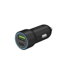 Автомобильное зарядное устройство USB-C + USB A, быстрая зарядка PD 3.0, QC 3.0, 20 Вт Deppa