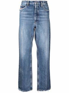 Diesel широкие джинсы с эффектом потертости
