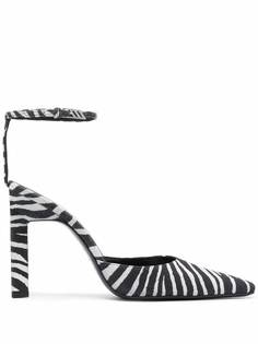 The Attico туфли с зебровым принтом
