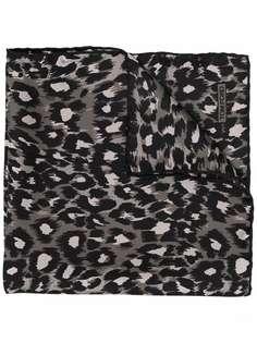 TOM FORD шелковый платок с леопардовым принтом