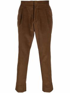 Z Zegna вельветовые брюки прямого кроя
