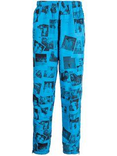 Lacoste спортивные брюки с принтом