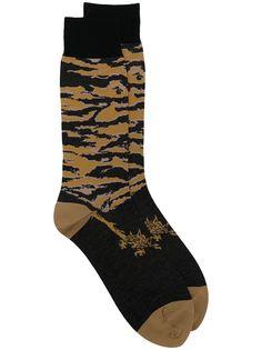Maharishi носки с тигровым принтом