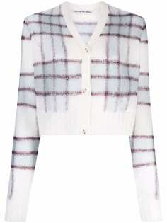 Acne Studios check-pattern cropped cardigan