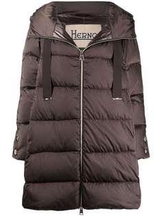 Herno стеганое пальто с капюшоном