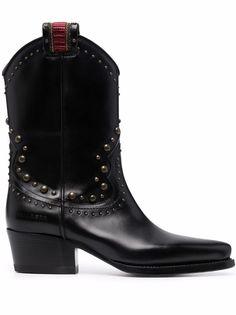 Dsquared2 ботинки на каблуке с заклепками