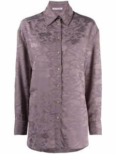Acne Studios жаккардовая рубашка с заостренным воротником