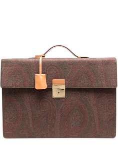 ETRO портфель с принтом пейсли