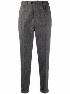 Pt01 зауженные шерстяные брюки