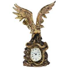 Часы настольные BOGACHO Орел на скале Бронза