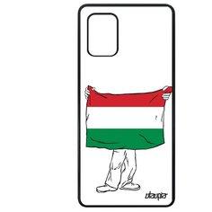 """Чехол на смартфон Samsung Galaxy A71, """"Флаг Венгрии с руками"""" Путешествие Патриот Utaupia"""