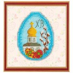 1180 Набор для вышивания на пластиковой канве ОВЕН  Пасхальный сувенир 7,2*5,3см