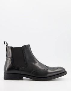 Черные кожаные ботинки челси Silver Street-Черный цвет