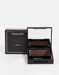 Набор для бровей Revolution – Glossy (Dark)-Brunette