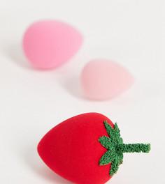 Набор спонжей для макияжа в виде клубники Spectrum x ASOS Exclusive Hello Kitty-Разноцветный