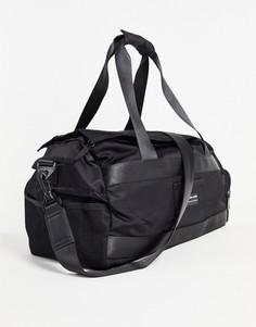 Черная спортивная сумка из нейлона с принтом объемом 26 литров ASOS DESIGN-Черный цвет