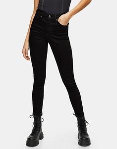 Черные джинсы из переработанного смесового хлопка Topshop Jamie-Черный цвет