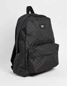 Черно-серый рюкзак в шахматную клетку Vans Old Skool-Черный цвет