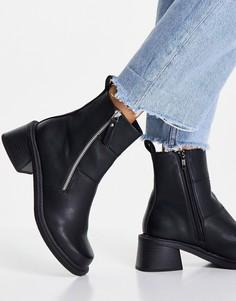 Черные ботинки ASOS DESIGN Avery-Черный цвет