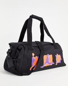 Черная спортивная сумка объемом 27,5 литра с принтом ASOS DESIGN-Черный цвет