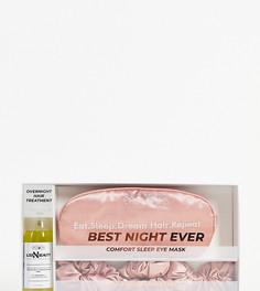 Набор аксессуаров для сна – средство для волос, резинки и маска Easilocks Dream Hair Made Easi Best Night Ever-Бесцветный