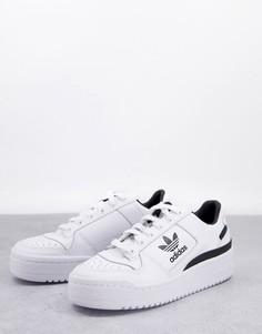 Черно-белые кроссовки adidas Originals Forum Bold-Белый