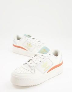Белые кроссовки с пастельной отделкой adidas Originals Forum Bold-Черный цвет