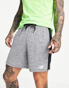 Серые легкие трикотажные шорты New Balance Training-Серый