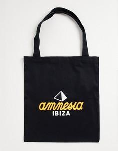 """Сумка-тоут с принтом """"Amnesia Ibiza"""" Boardmans-Черный цвет"""