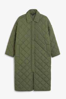 Длинное стеганое пальто Monki