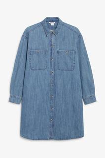 Джинсовое платье-рубашка Monki