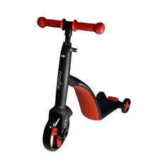 Детский трехколесный трансформер 3 в 1 Nadle самокат-беговел-велосипед, красный