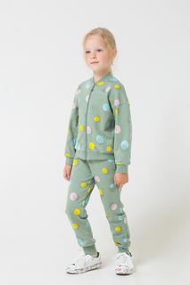 Трикотажные брюки из петельчатого футера Crockid К 400006/к1266 Зеленый 104