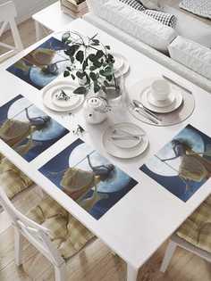 """Комплект салфеток JoyArty """"Качели в полнолуние"""" для сервировки стола 32х46 см, 4 шт."""