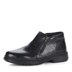 Черные кожаные ботинки Rieker